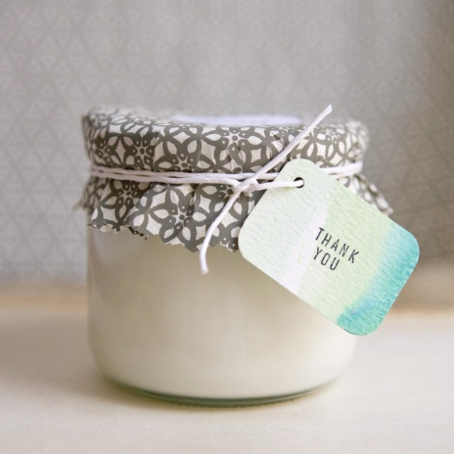 DIY Soy Wedding Favors on Dogs Dishes and Decor via Ruffled Blog #favors