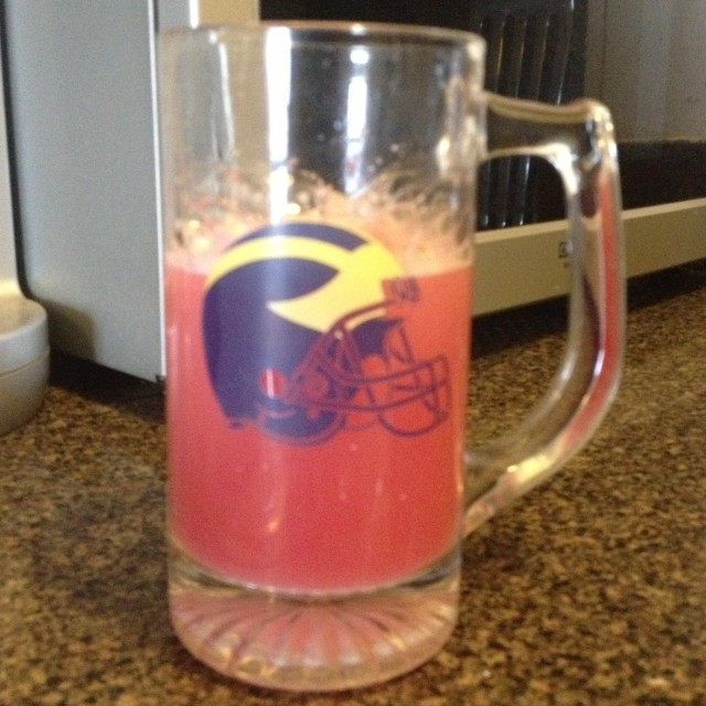 Raspberry emergen-c in a Michigan Mug on Dogs Dishes and Decor