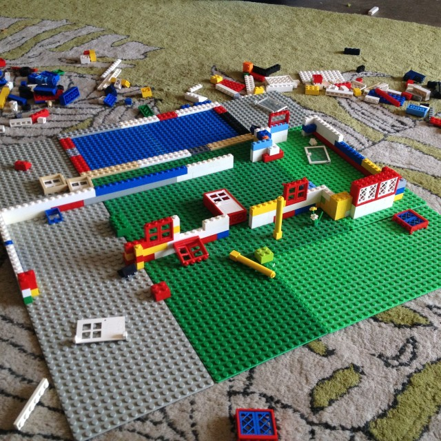 Legos and the Importance of Playing: Dogs Dishes and Decor