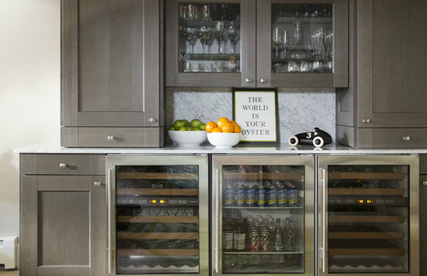 Liz Caan wet bar on Dogs Dishes and Decor
