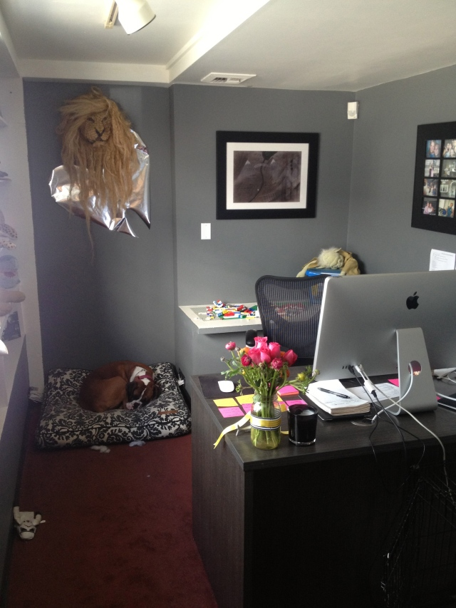 Office on Dogs Dishes and Decor