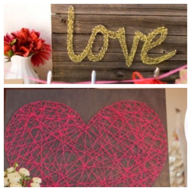 String Art on Dogs Dishes and Decor