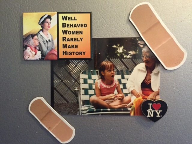 These magnets were given to me by Nicole and Sarah, two other warrior women who just happen to be Wolverines like me.