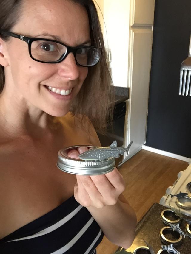 I glued a shark on a jar. Get excited for me.